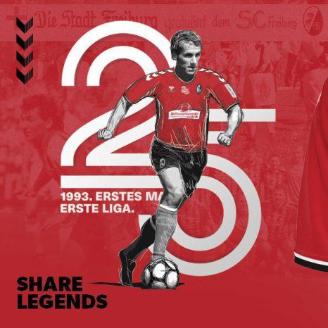 SC Freiburg Bundesliga 25th Anniversary Football Kit, Soccer Jersey, Shirt, Sondertrikot, Trikot, Jubiläumstrikot