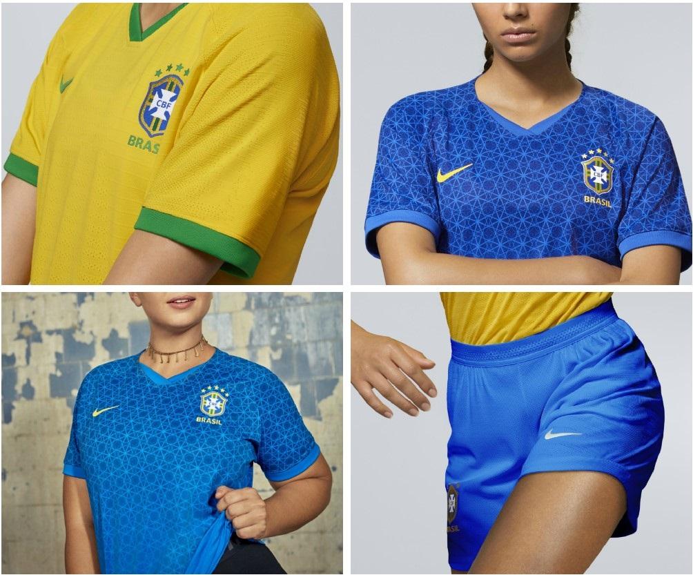 c866e36730b Brazil 2019 Women s World Cup Nike Kits - FOOTBALL FASHION.ORG