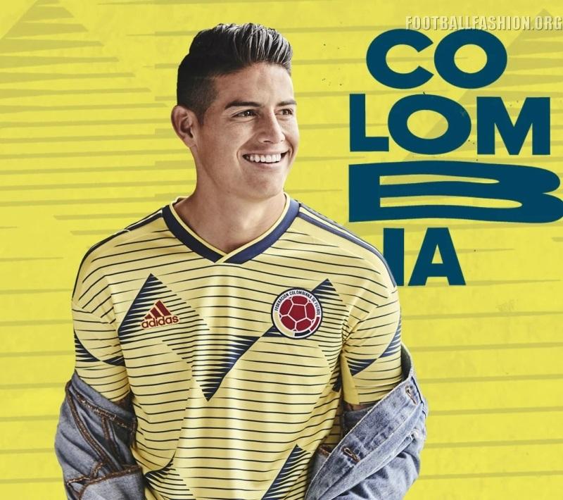 e65fd2a9c5b Colombia 2019 Copa América adidas Home Jersey - FOOTBALL FASHION.ORG