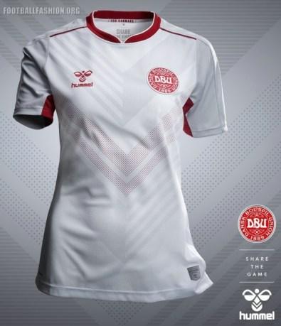 Denmark 2019 2020 Women's hummel Home and Away Football Kit, Soccer Jersey, Shirt, landsholdstrøje - hjemmebane, udebane