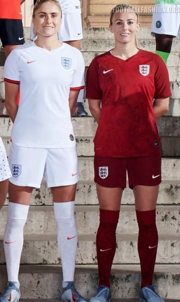 England 2019 Women's World Cup Nike Football Kit, Soccer Jersey, Shirt