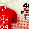 "Bayer Leverkusen 2019 ""40 Years in the Bundesliga"" Football Kit, Soccer Jersey, Shirt, Sondertrikot 40 Jahre"