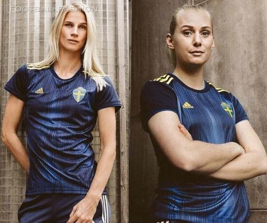 Sweden 2019 Women's World Cup adidas Away Football Kit, Soccer Jersey, Shirt, Matchtröja