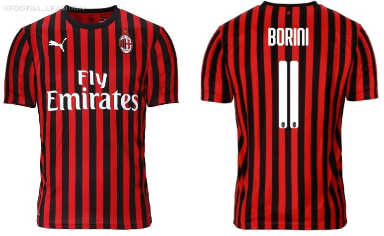 AC Milan 2019 2020 PUMA Red Black Home Soccer Jersey, Shirt, Football Kit, Gara, Maglia, Camisa, Camiseta, Maillot, Trikot