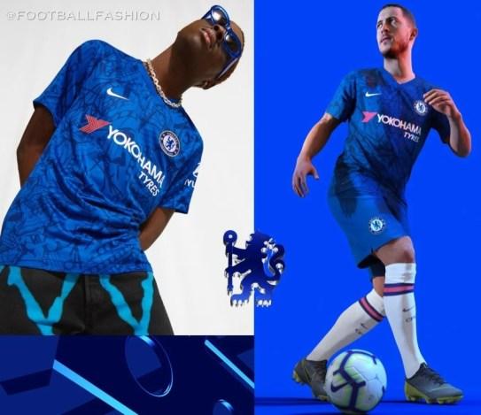 Chelsea FC 2019 2020 Nike Home Football Kit, Soccer Jersey, Shirt, Camiseta de Futbol, Camisa, Maillot, Trikot, Tenue, Dres