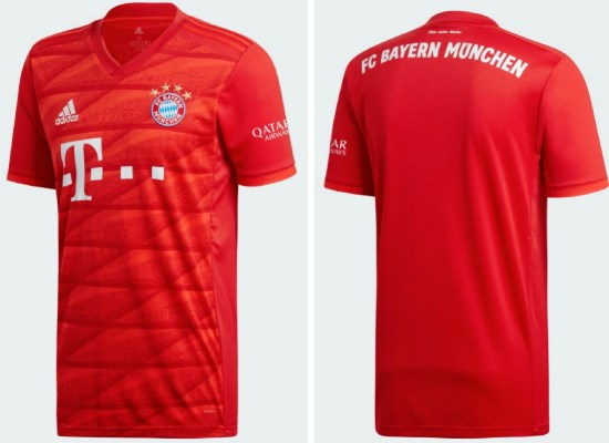 Bayern Munich 2019 2020 adidas Home Football Kit, Soccer Jersey, Shirt, Trikot, Maillot, Tenue, Camisa, Camiseta