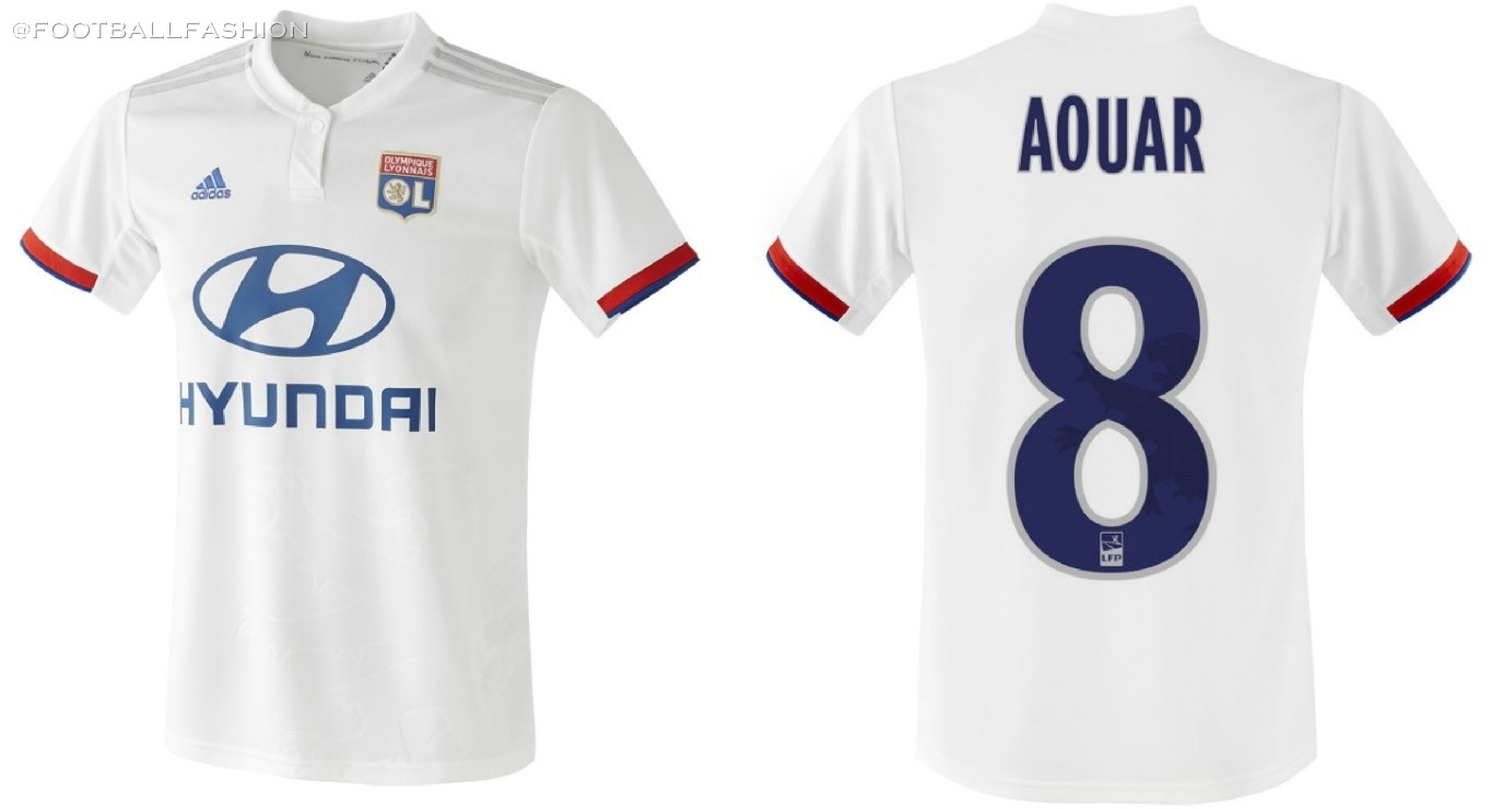 a2151791f17 Olympique Lyon 2019 20 adidas Home and Away Kits - FOOTBALL FASHION.ORG