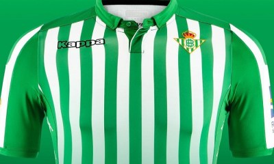 Real Betis 2019 2020 Kappa Home Football Kit, Soccer Jersey, Shirt, Camiseta de Futbol