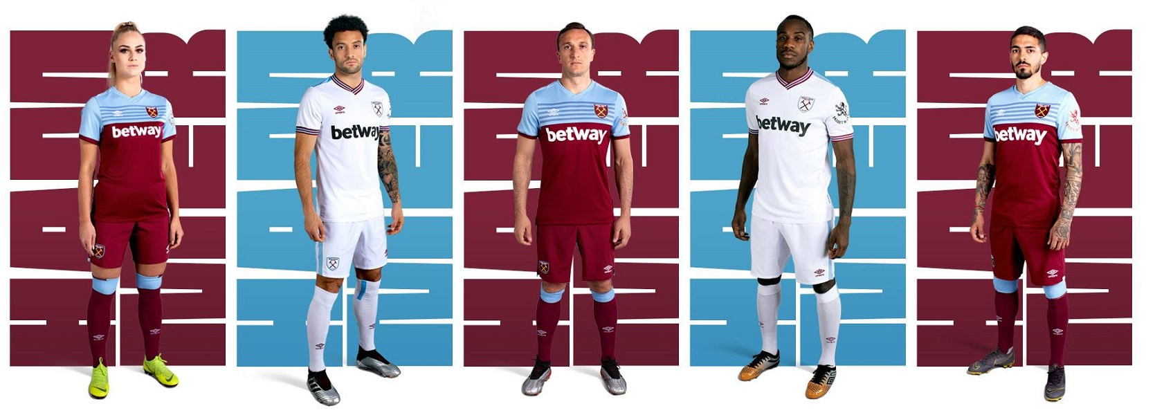 588cb45df West Ham United 2019 2020 Umbro Home and Away Football Kit, Soccer Jersey,  Shirt