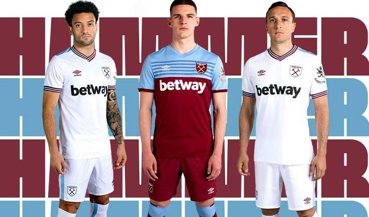 West Ham United 2019 20 Umbro Home And Away Kits Football Fashion