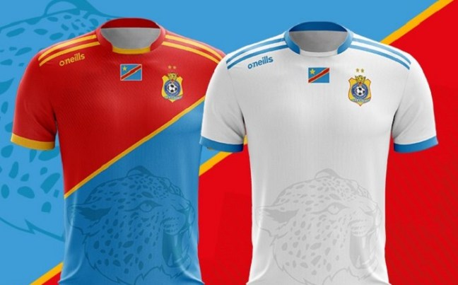DR Congo 2019 AFCON O'Neills Football Kit, Soccer Jersey, Shirt, Maillot