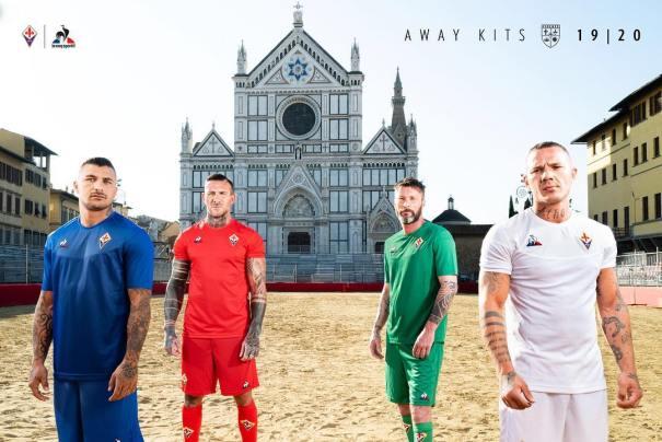 ACF Fiorentina 2019 2020 le coq sportif Away Football Kit, Soccer Jersey, Shirt, Gara, Maglia