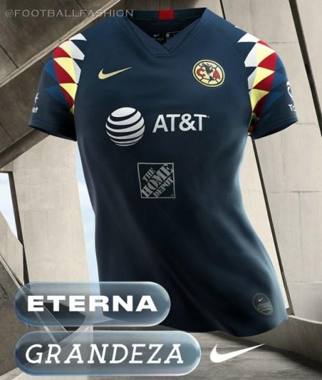 Club América 2019 2020 Nike Away Jersey, Football Shirt, Kit, Camiseta Alternativa de Futbol