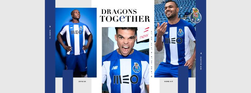 FC Porto 2019 2020 New Balance Home Football Kit, Soccer Jersey, Shirt, Camisa, Camisola