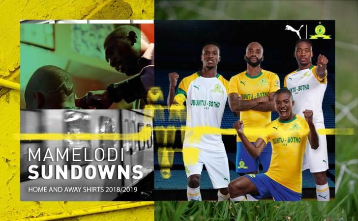 Mamelodi Sundowns 2019 2020 PUMA Football Kit, Soccer Jersey, Shirt