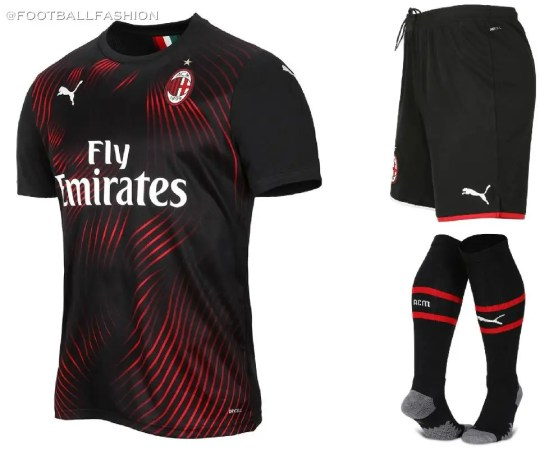 AC Milan 2019 2020 PUMA Red Black Third Soccer Jersey, Shirt, Football Kit, Gara, Maglia, Camisa, Camiseta, Maillot, Trikot