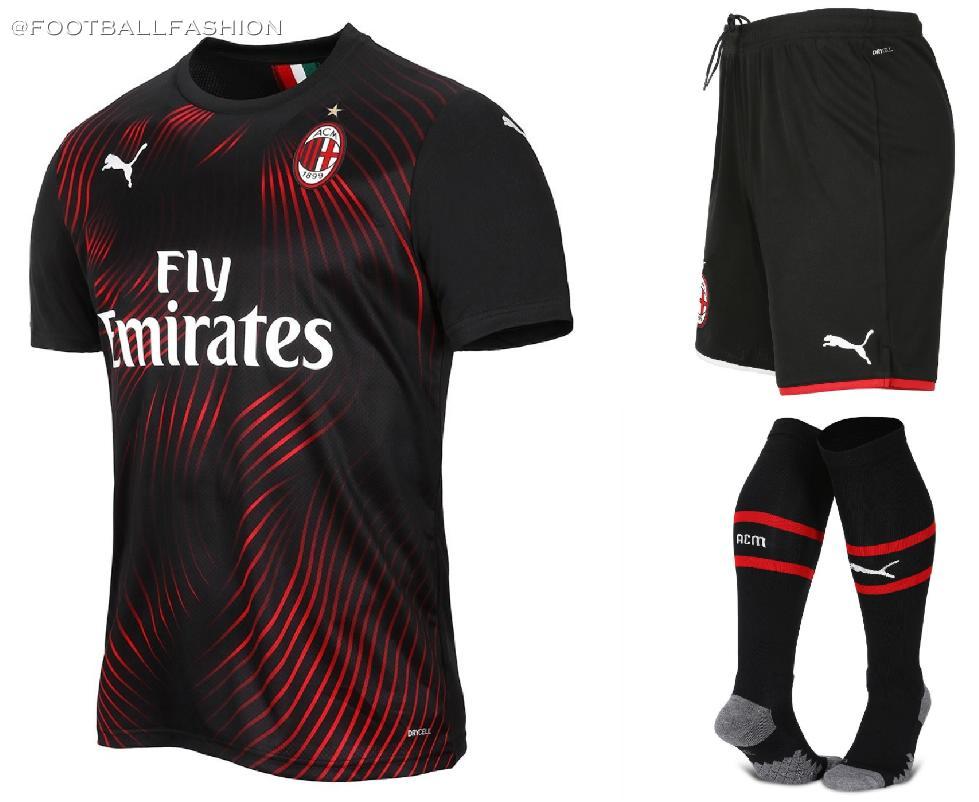 e47051c91b3 AC Milan 2019 2020 PUMA Red Black Third Soccer Jersey, Shirt, Football Kit,