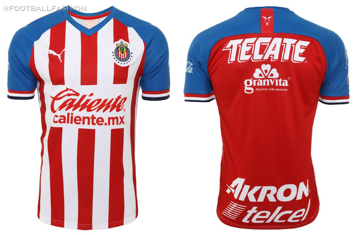 new product 5c2c5 4c549 Chivas de Guadalajara 2019/20 PUMA Home and Away Jerseys ...