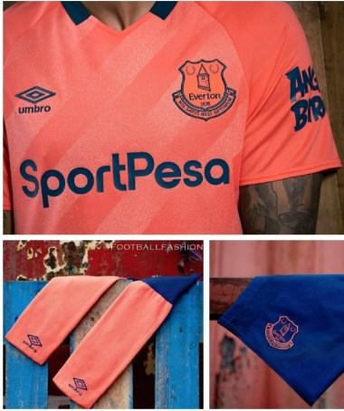 Everton FC 2019 2020 Umbro Away Football Kit, Soccer Jersey, Shirt, Camiseta, Camisa, Trikot, Maillot