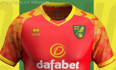 Norwich City 2019 2020 Erreà Red Away Football Kit, Soccer Jersey, Shirt