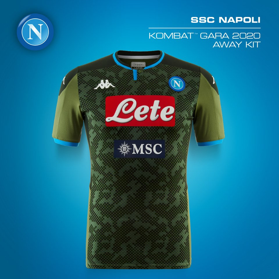 Ssc Napoli 2019 20 Kappa Away And Third Kits Football Fashion