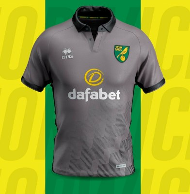 Norwich City 2019 2020 Erreà Third Football Kit, Soccer Jersey, Shirt