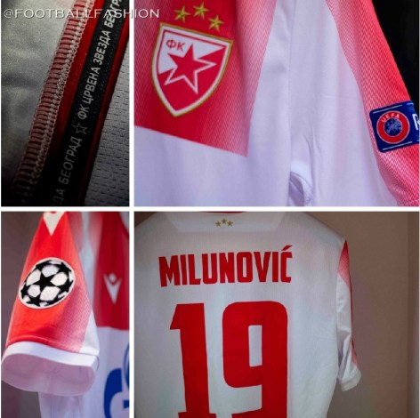 Фк Црвена звезда Crvena Zvezda 2019 2020 Macron  UEFA Champions League Football Kit, FC Red Star Belgrade Soccer Jersey, Shirt, Dres