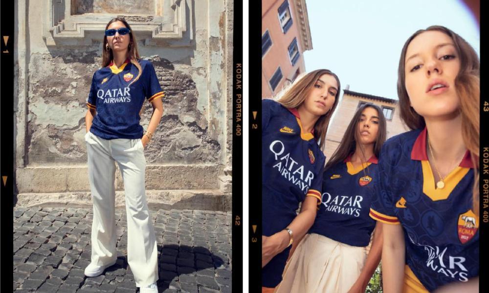 AS Roma 2019 2020 Nike Blue Third Football Kit, Soccer Jersey, Shirt, Camiseta, Camisa, Maglia, Gara, Trikot, Maillot, Tenue