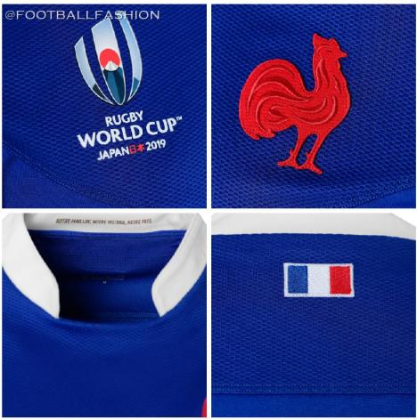 France 2019 Rugby World Cup Home and Away Kit, Shirt, Jersey, Maillot