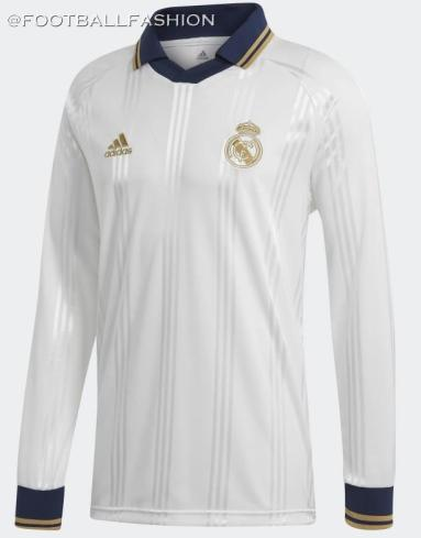 Real Madrid 2019 2020 adidas Retro Icon Football Kit, Soccer Jersey, Shirt, Camiseta, Camisa, Equipacion, Maillot, Trikot, Tenue, Camisola, Dres
