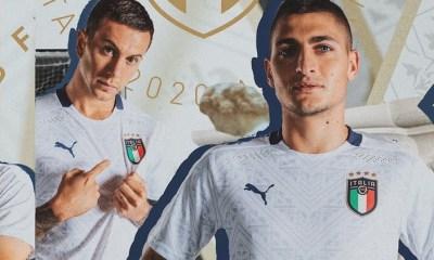 Italy 2019 EURO 2020 PUMA Whte Away Football Kit, Shirt, Soccer Jersey, Italia, Camiseta, Camisa, Trikot, Maillot, Gara, Maglia