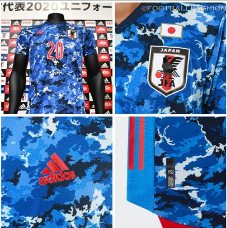Japan 2020 adidas Home Football Kit, Soccer Jersey, Shirt