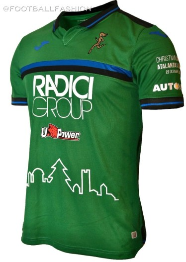 Atalanta Bergamasca Calcio 2019 2020 Joma Christmas Football Kit, Soccer Jersey, Shirt, Gara, Maglia Natale