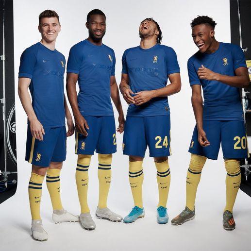 Chelsea 1970-Inspired 2019 2020 Fourth Cup Football Kit, Soccer Jersey, Shirt, Camiseta, Maillot, Camisa, Trikot