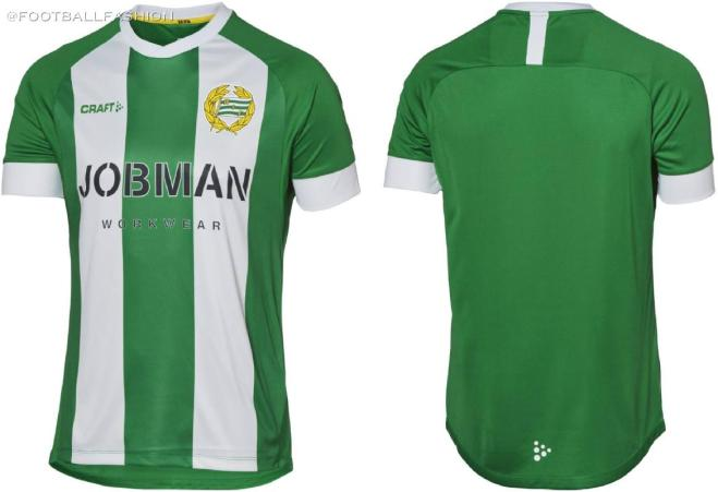 Hammarby 2020 Craft Home Football Kit, Soccer Jersey, Shirt, Matchtröja