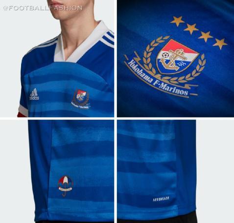 Yokohama F. Marinos 2020 adidas Home Football Kit, Soccer Jersey, Shirt