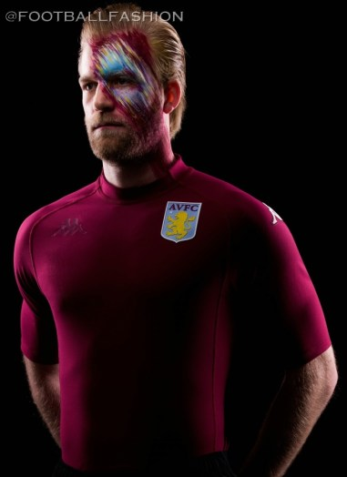 Aston Villa 2020 Kappa Kombat XX Football Kit, Soccer Jersey, Shirt