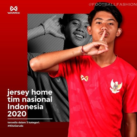 Indonesia 2020 Warrix Home and Away Football Kit, Soccer Jersey, Shirt