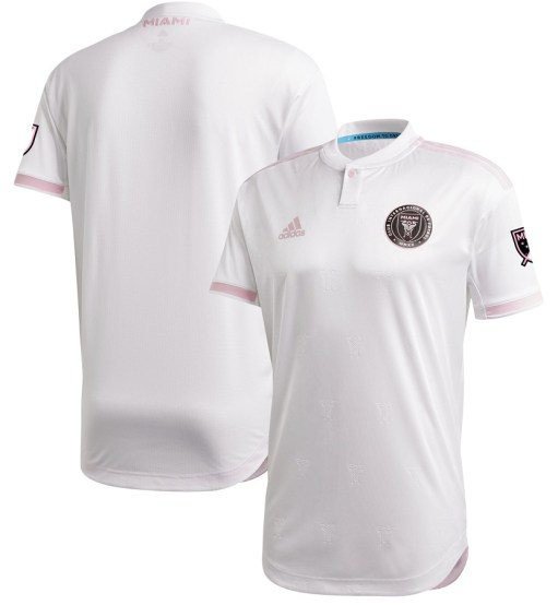Inter Miami CF 2020 adidas White Home Soccer Jersey, Football Kit, Shirt, Camiseta de Futbol MLS