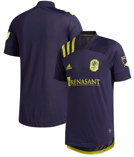 Nashville SC 2020 adidas Away Soccer Jersey, Football Kit, Shirt, Camiseta de Futbol