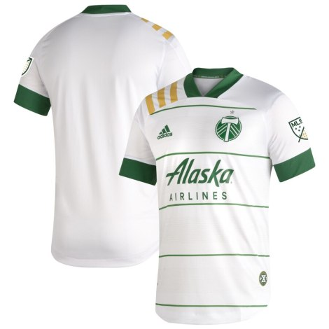 Portland Timbers 2020 adidas White Away Soccer Jersey, Shirt,, Football Kit, Camiseta de Futbol