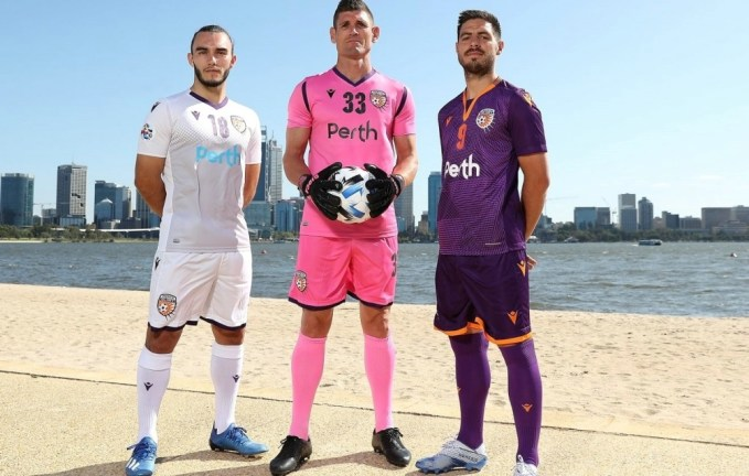 Perth Glory 2020 Macron AFC Asian Champions League Home and Away Soccer Jersey, Football Kit, Shirt