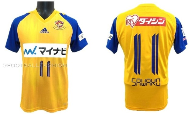 Vegalta Sendai 2020 adidas Home and Away Football Kit, Soccer Jersey, Shirt