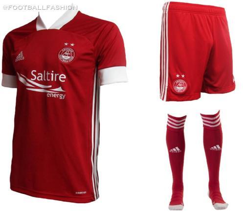 Aberdeen FC 2020 2021 adidas Home and Away Football Kit, Soccer Jersey, Shirt