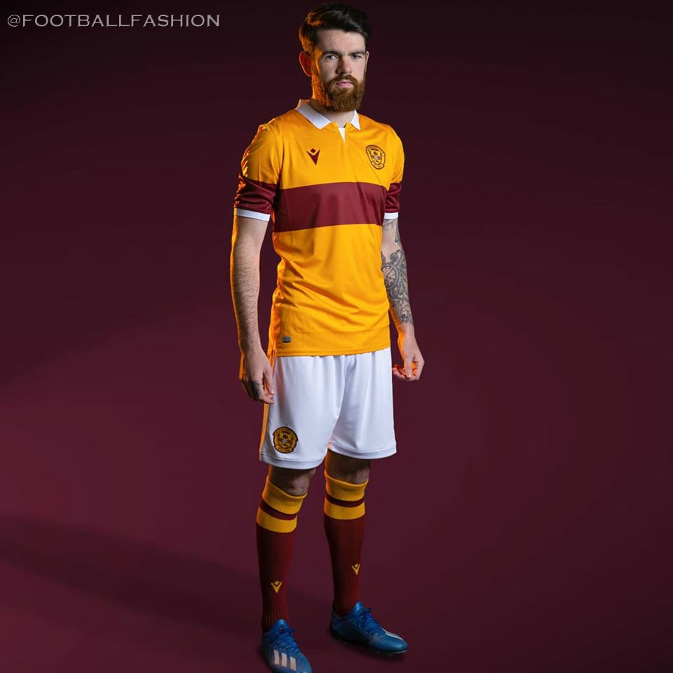 Motherwell Fc 2020 21 Macron Home Kit Football Fashion Org