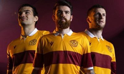 Motherwell FC 2020 2021 Macron Home Football Kit, 2020/21 Shirt, 2020-21 Jersey