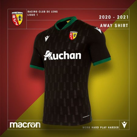 RC Lens 2020 2021 Macron Away Football Kit, 2020/21 Soccer Jersey, 2020-21 Shirt, Maillot