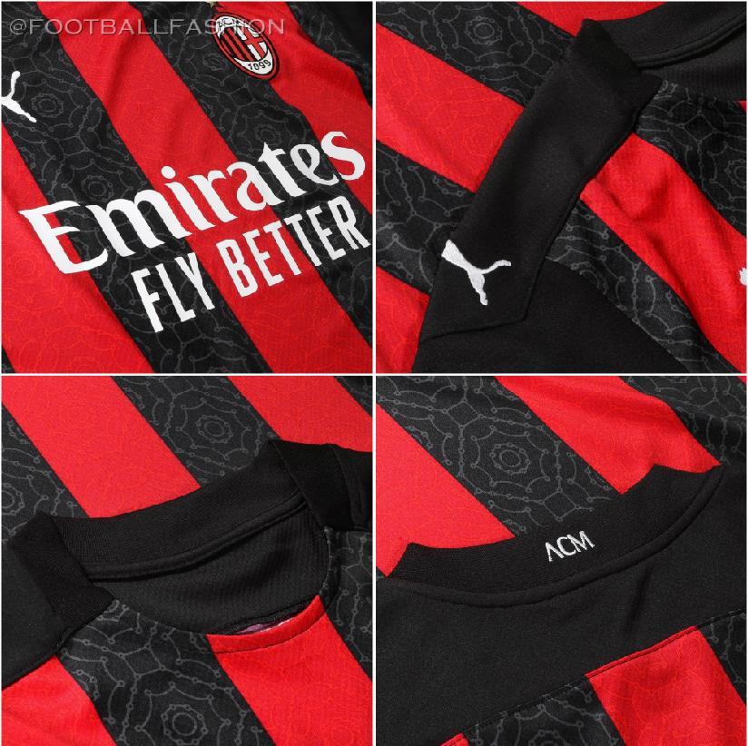 Ac Milan 2020 21 Puma Home Kit Football Fashion