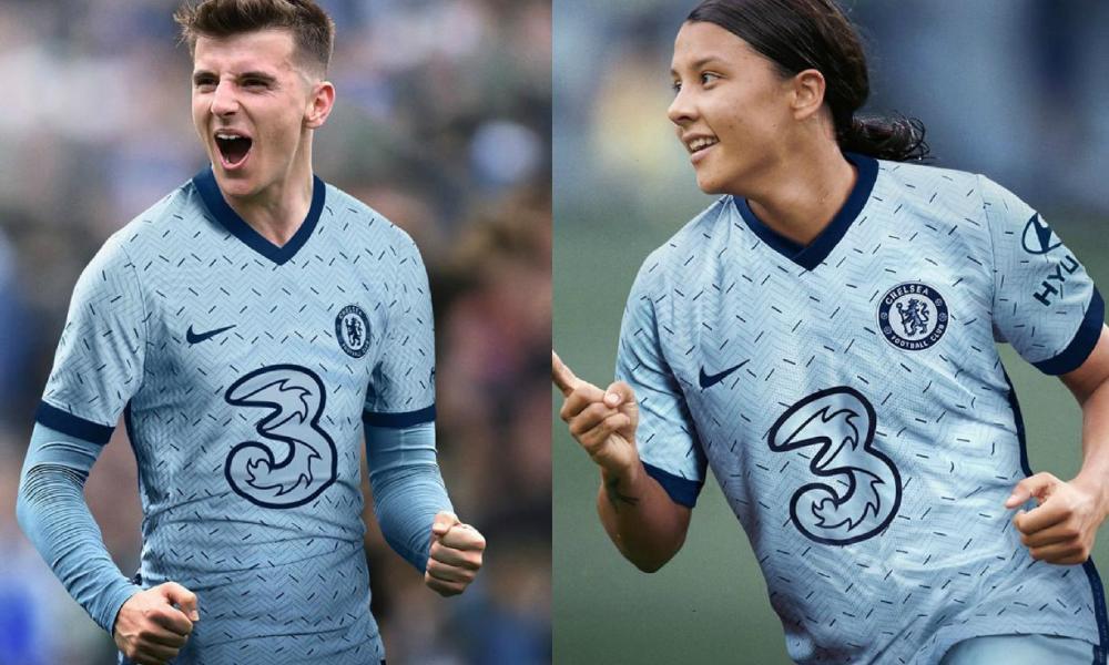 Chelsea FC 2020 2021 Nike Light Blue Away Football Kit, 2020-21 Soccer Jersey, 2020/21 Shirt, Maillot, Camiseta, Camisa, Maglia, Gara, Trikot, Dres