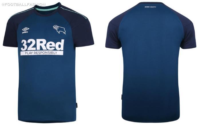 Derby County 2020 2021 Umbro Away Football Kit, 2020/21 Shirt, 2020-21 Soccer Jersey